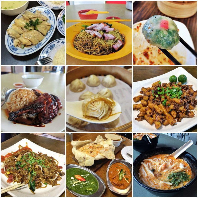Singapore food collage