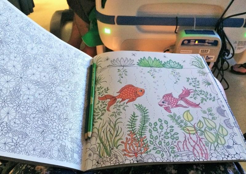 coloring at hospital