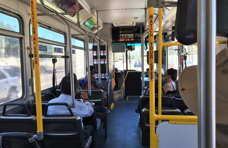 1:00 pm: on the bus