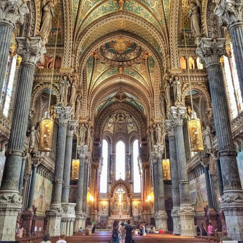 Lyon Basilica de Fourviere interior