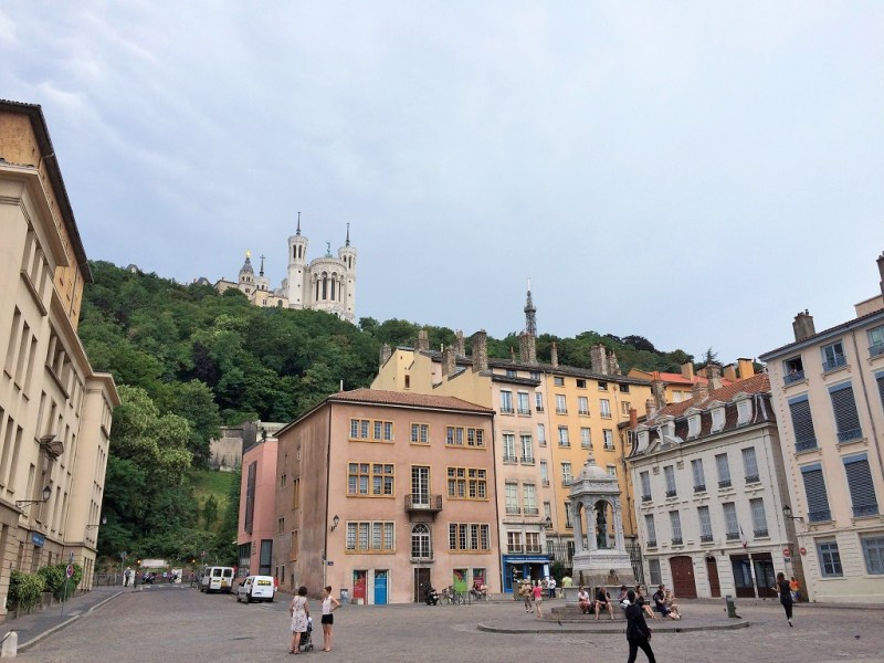 Lyon Old Town with church on hill