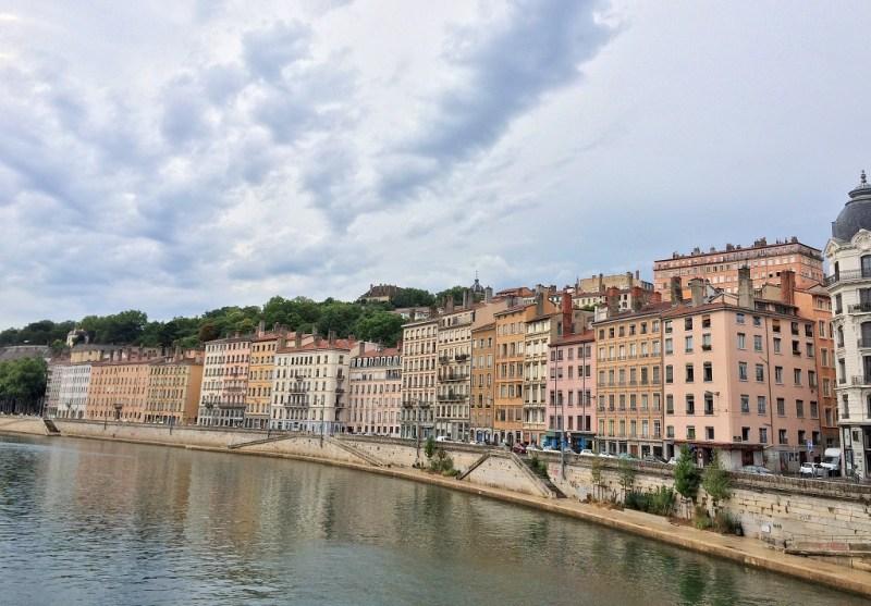 Lyon along the river