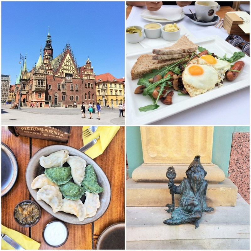 1. Wroclaw town hall // 2. Polish breakfast at Bernards! // 3. pierogis at Pierogarnia // 4. when in Wroclaw... go gnome hunting