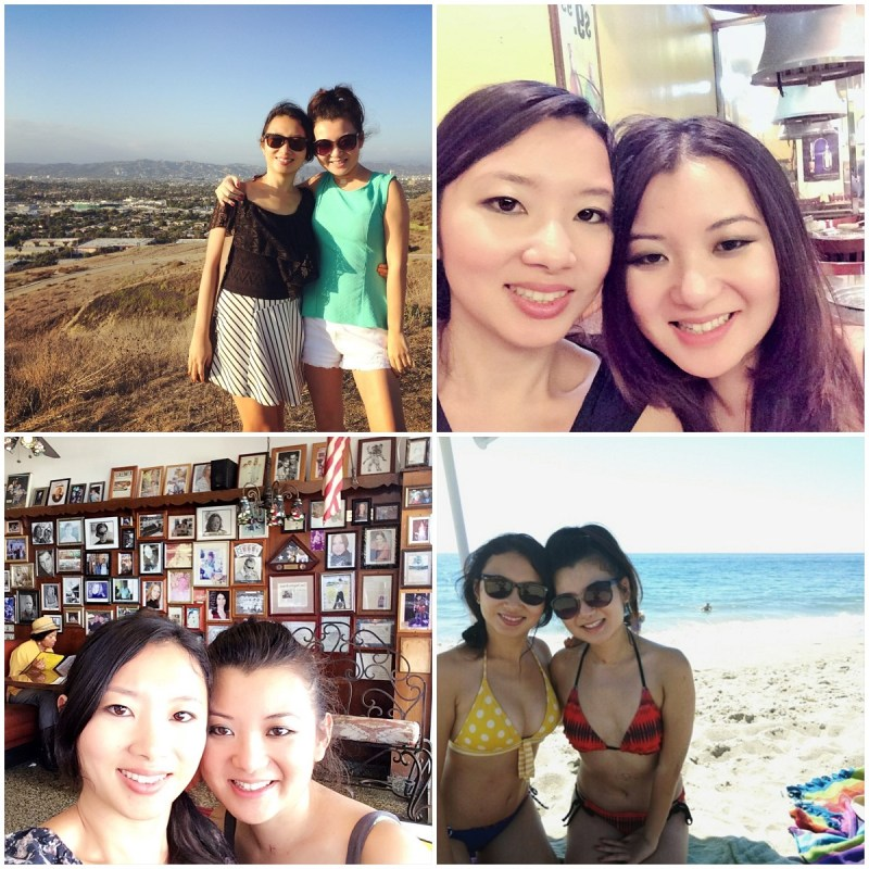 Sept 2015 with sister collage