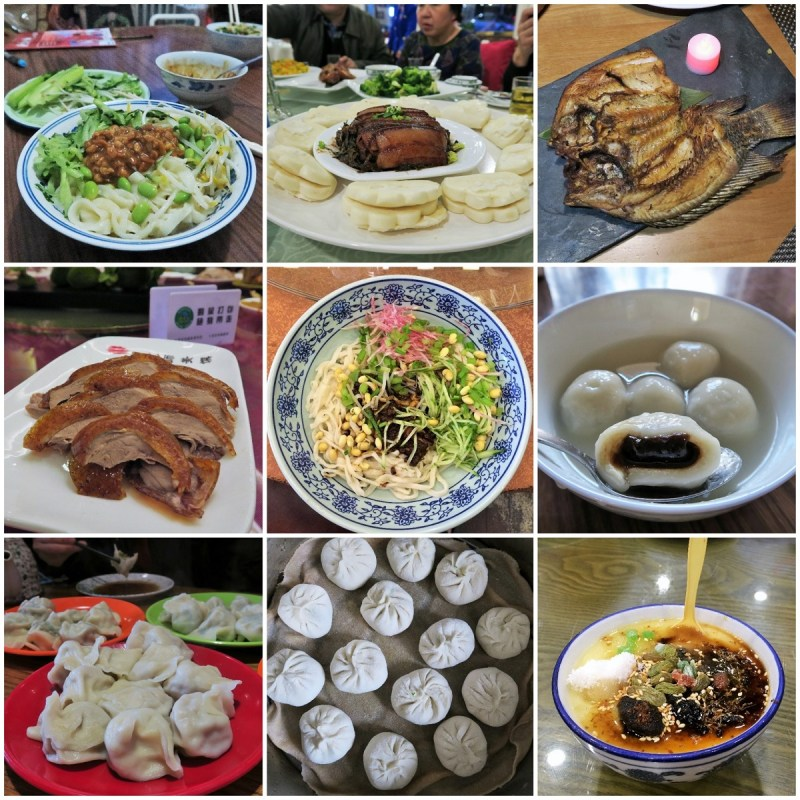 beijing food collage