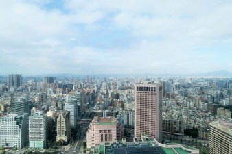 Week 39: Taipei - the view from the secret Starbucks on the 35th floor of Taipei 101