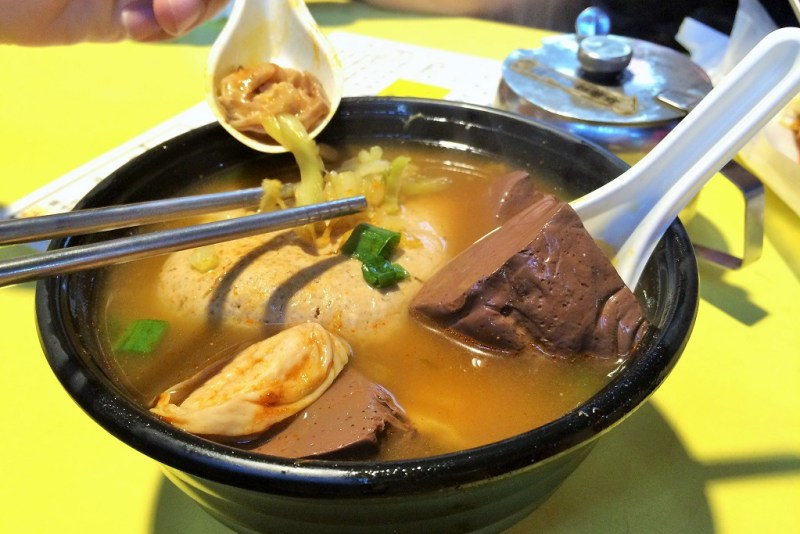 taipei food duck blood soup