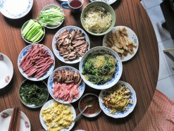 Beijing - grandma's cooking, a spread of spring rolls