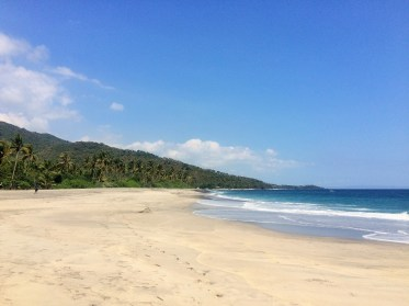 Lombok - only people on the beach