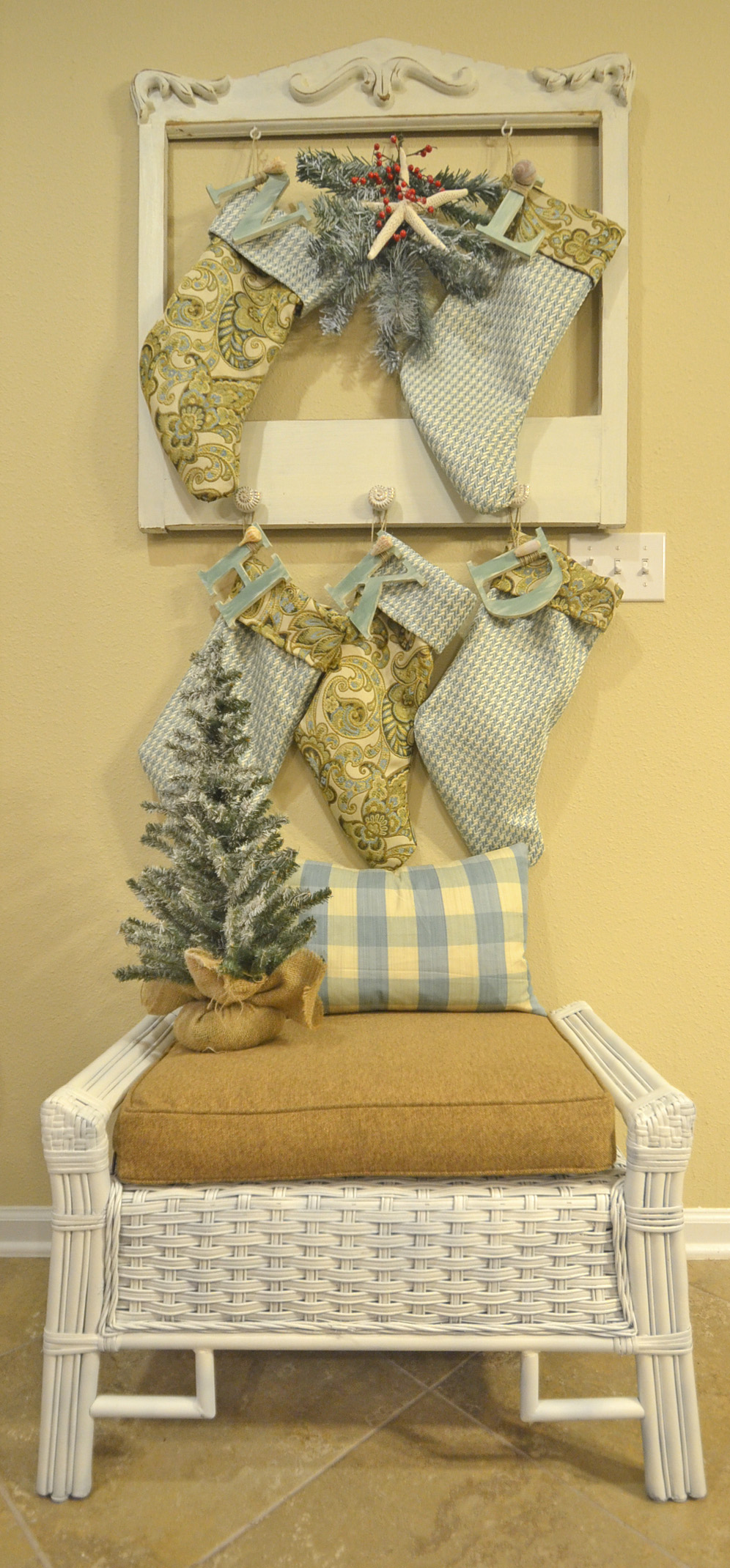 Christmas Stocking Holder With A Twist Slightly Coastal