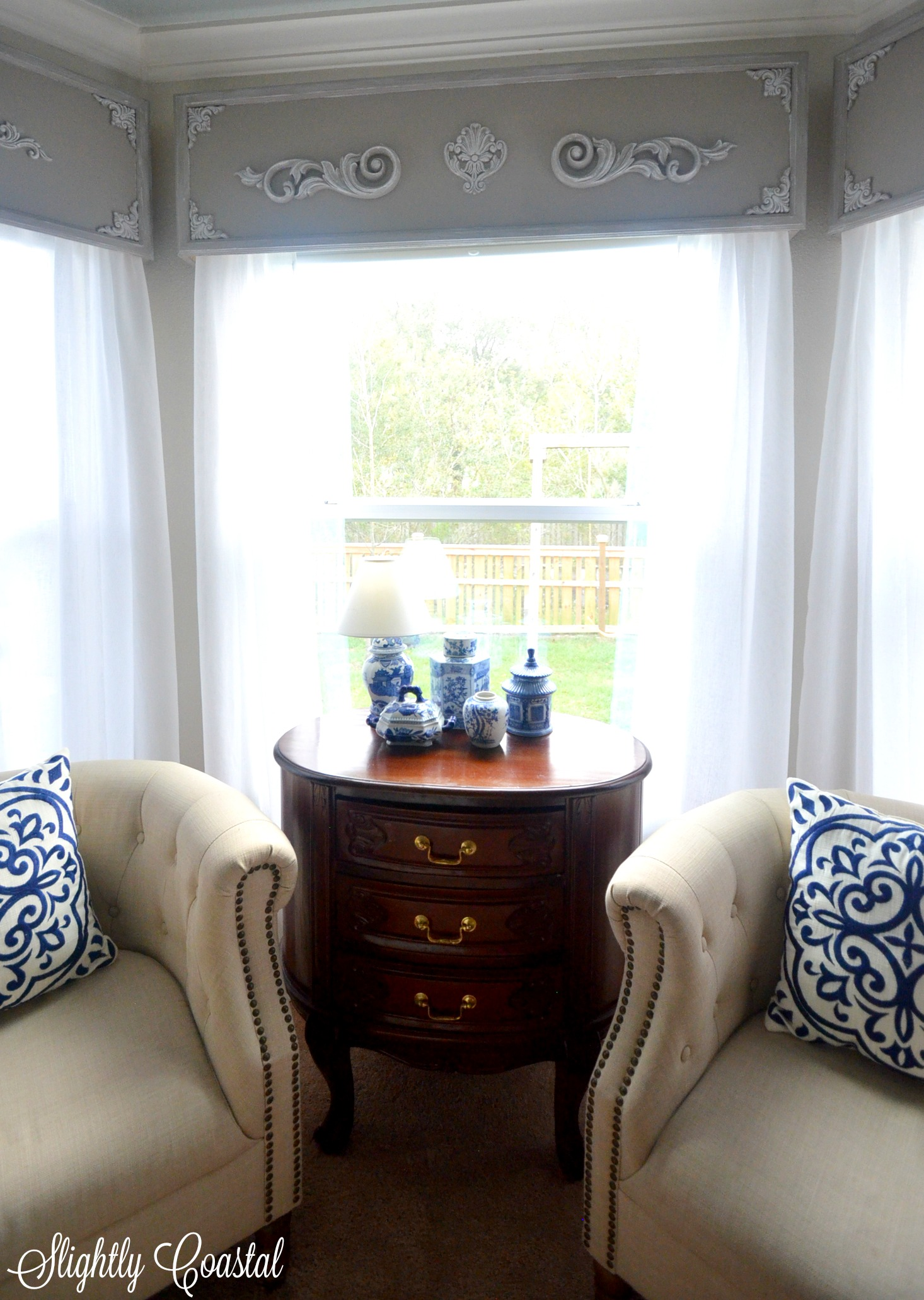 French Country Wooden Valance Master Bedroom Makeover