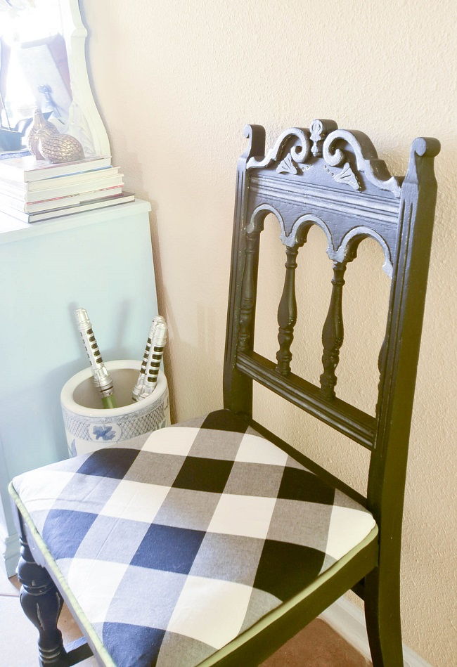 DIY Metallic Furniture Chair Makeover