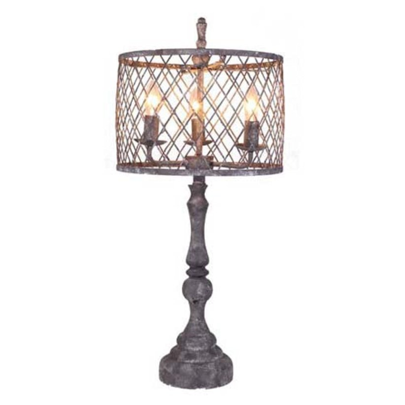 This is by far the cutest French Country Farmhouse lamp I have seen. I love the open shade and the candelabra lamp feel without it being fussy. Love!