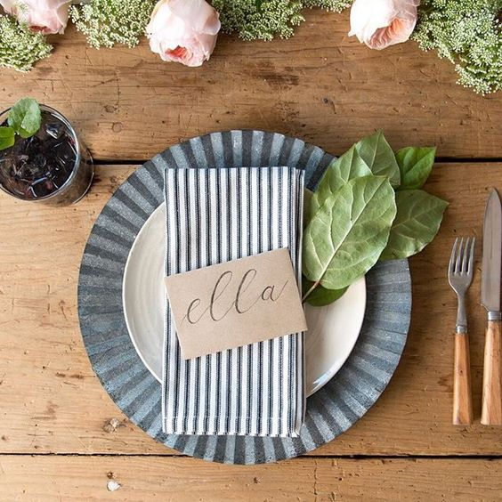 An easy place setting by Joanna Gaines