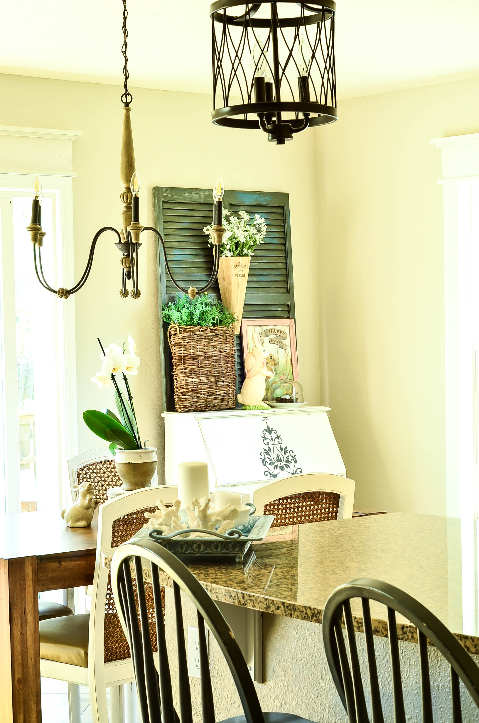 A Painted Secretary and A Spring Vignette |
