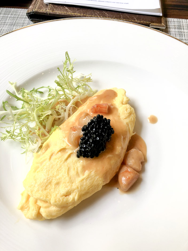 Lobster and caviar for breakfast.