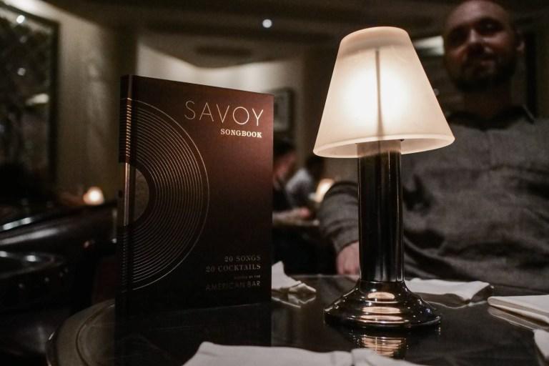 Savoy Songbook - The Menu at American Bar in London