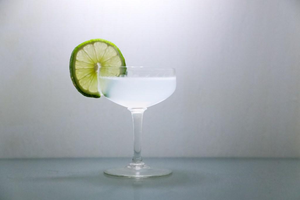 A classic daiquiri cocktail