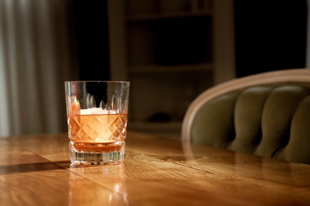 Waterford old fashioned glass.