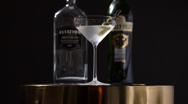 Aviation Gin dirty martini