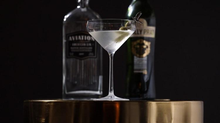 Aviation Gin dirty martini