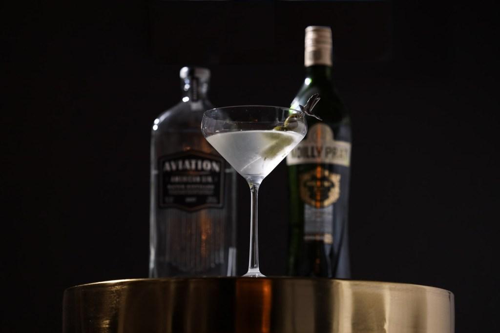 Aviation Dirty Martini