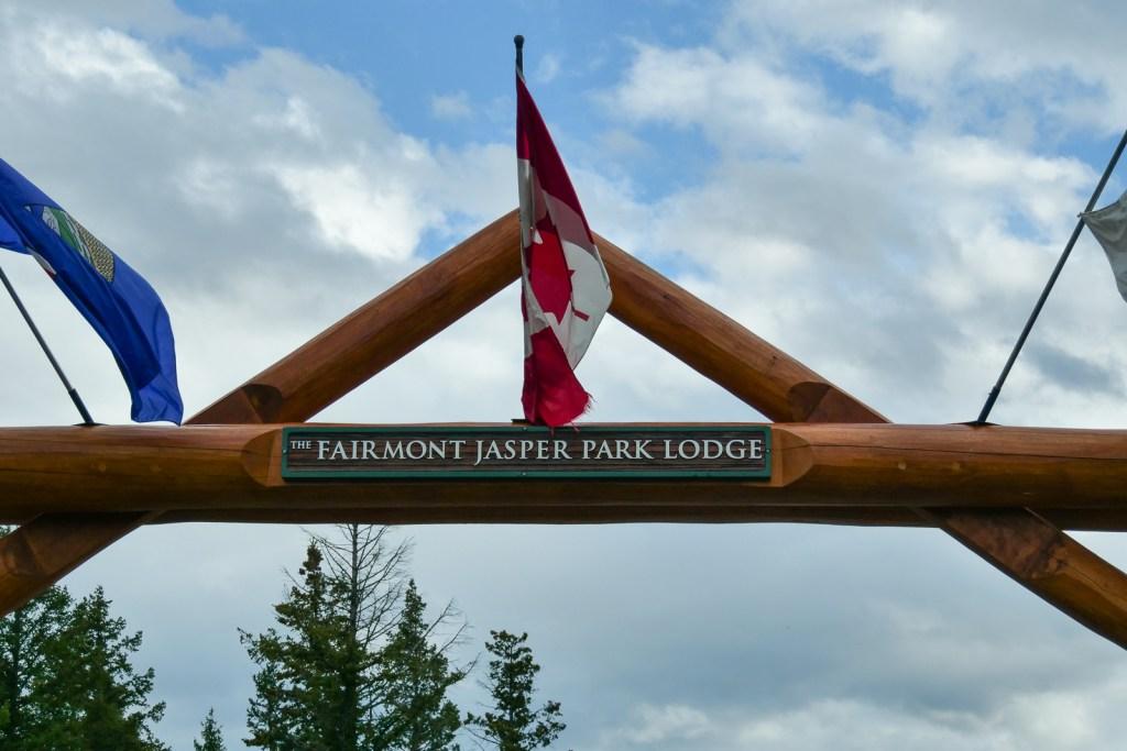 Arriving at Jasper Park Lodge.
