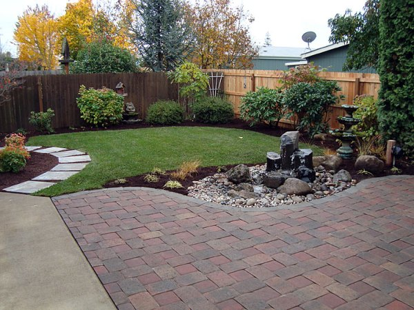 tree shrubs and lawn installation