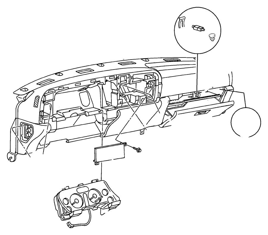 Dodge Ram 3500 Dashboard Panel. Instrument, Make