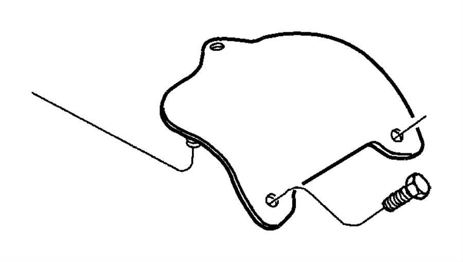 Dodge Ram 2500 Manual Transmission Shift Shaft Cover. 2000