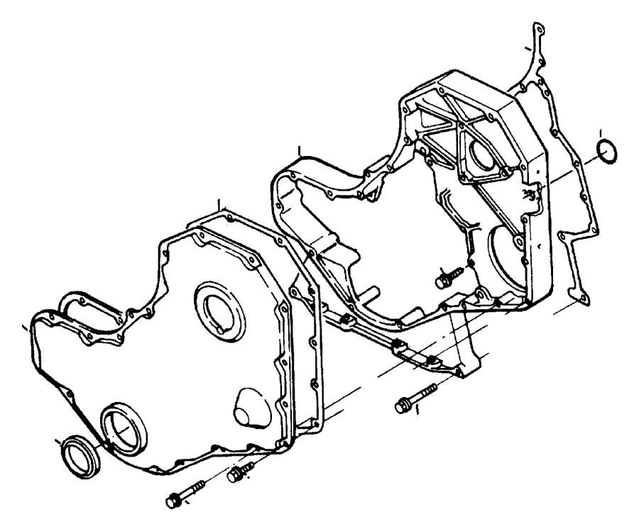Dodge Ram 2500 Engine Timing Cover Gasket (Front