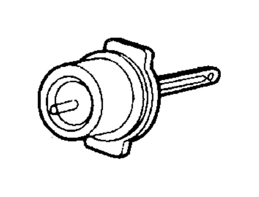 Jeep Wrangler Hvac air inlet door actuator. Hvac floor