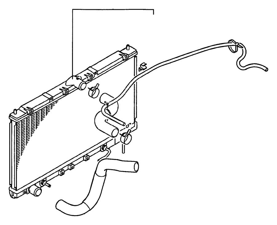 Dodge Avenger Radiator Coolant Hose. 2.5 LITER, RADIATOR