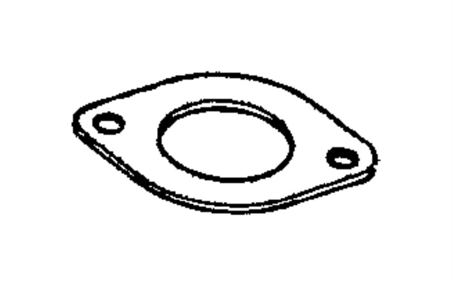 Dodge Magnum Thermostat. Gasket. 2.7 & 3.5 LITER. 3.2 & 3