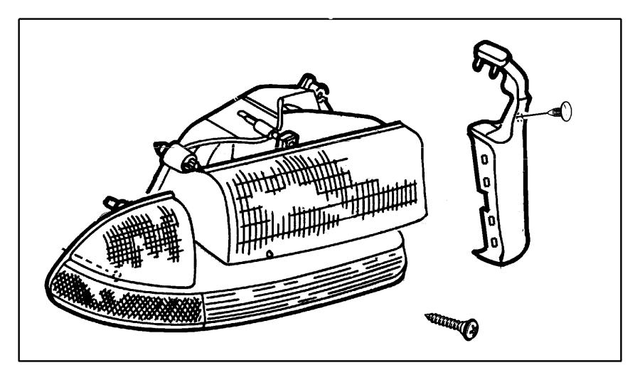 Dodge Dakota Headlight. Lamp. (front). Dakota; left. From