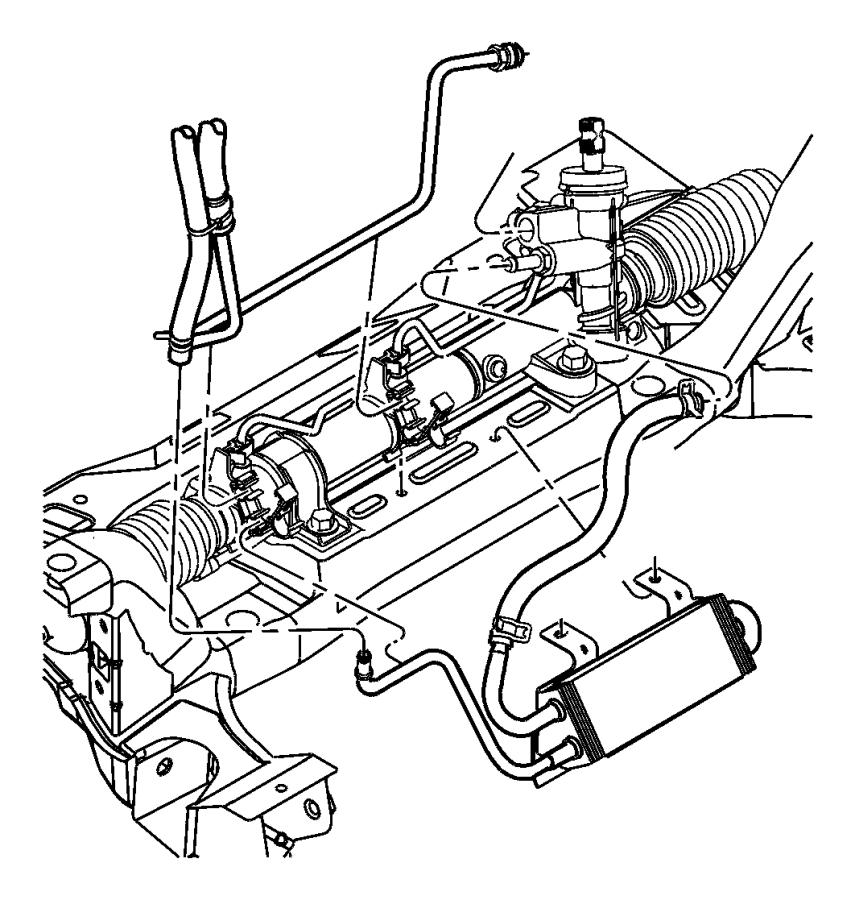 Dodge Neon Power Steering Pressure Hose. Cooler, GEAR
