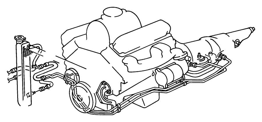 Dodge Ram 2500 Automatic Transmission Oil Cooler Tube