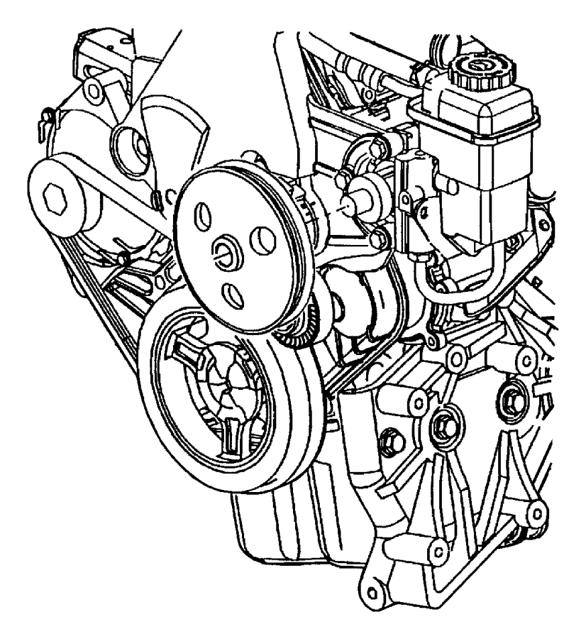 Dodge Neon Power Steering Pump. GEAR, LINKAGE, HOSES