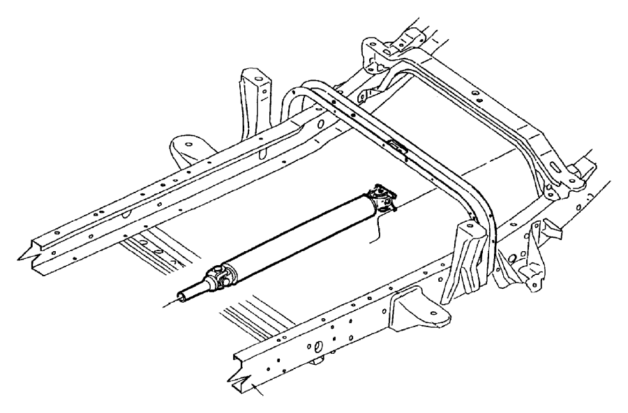 Dodge Dakota Drive shaft. Dakota; 2wd; one piece; manual
