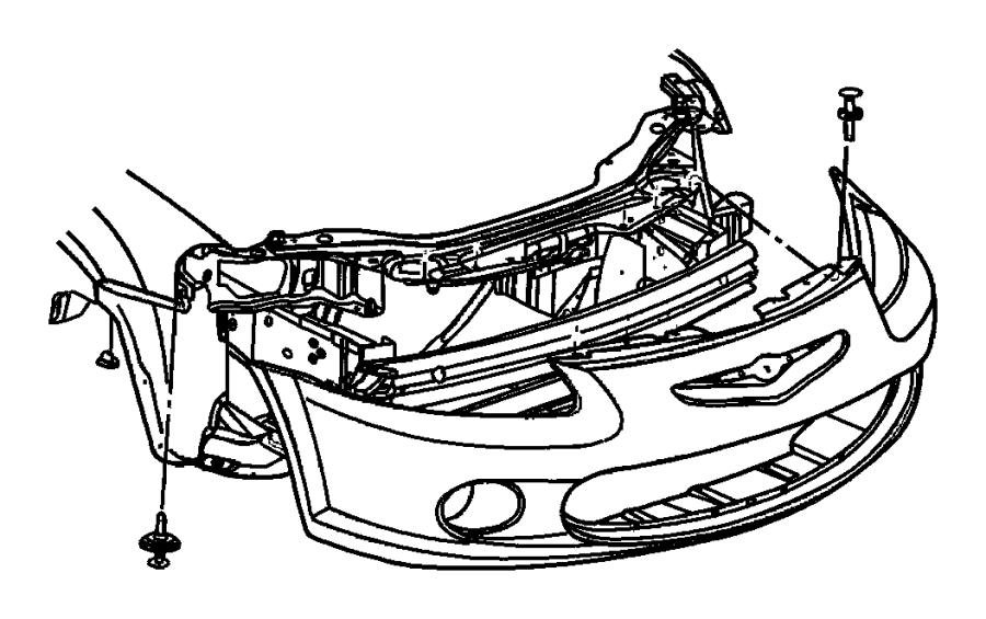 Chrysler Concorde Cover. Bumper. Retainer. Nut. (Upper