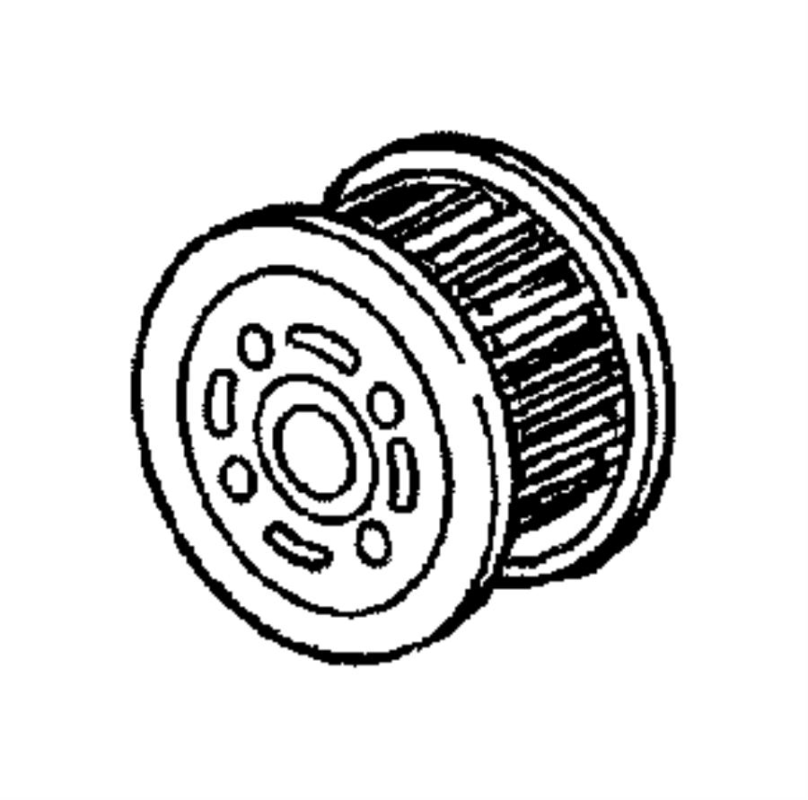 Chrysler Pacifica Gear. Crankshaft. Timing. Engine