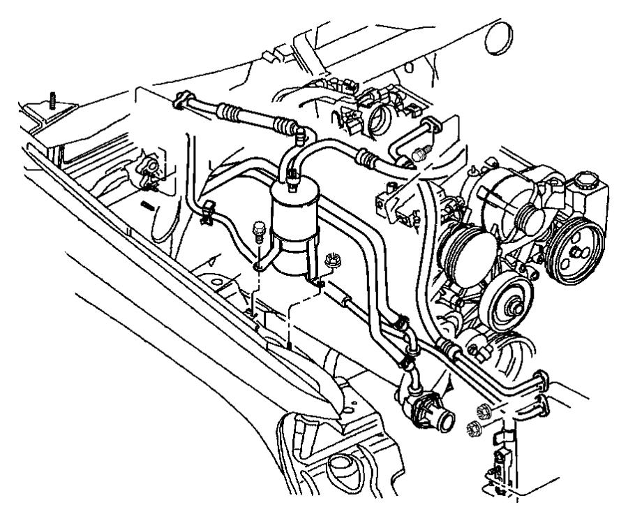 Jeep Grand Cherokee A/c refrigerant discharge hose