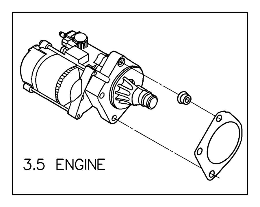 Chrysler Pacifica Starter Heat Shield. 3.8 liter
