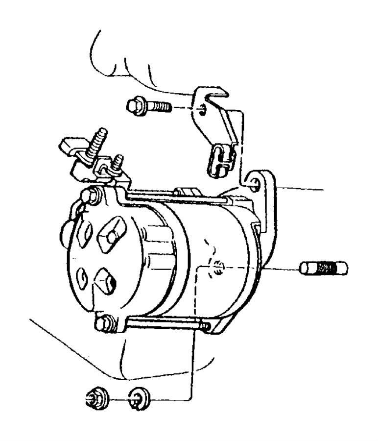 Dodge Ram 1500 Van Starter Motor. Engine, LITER