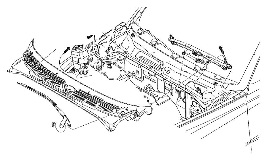 Dodge Dakota Windshield Washer Pump (Front). WASHER. PUMP