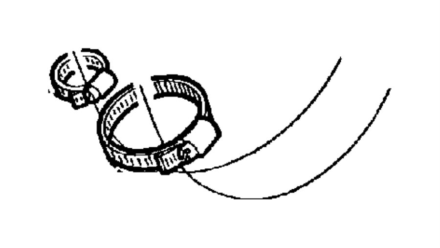 Jeep Wrangler Hose. Clamp. Vent. (Lower) (Lower). 1997-02