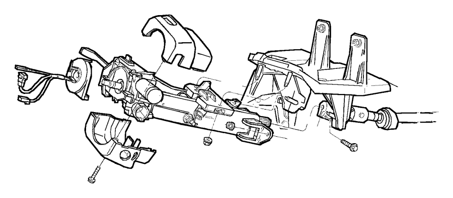 Jeep Cherokee Steering Column Cover. Auto, Trans, WHEEL