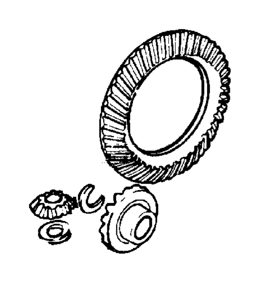 Dodge Dakota Differential Ring and Pinion. Ratio, REAR