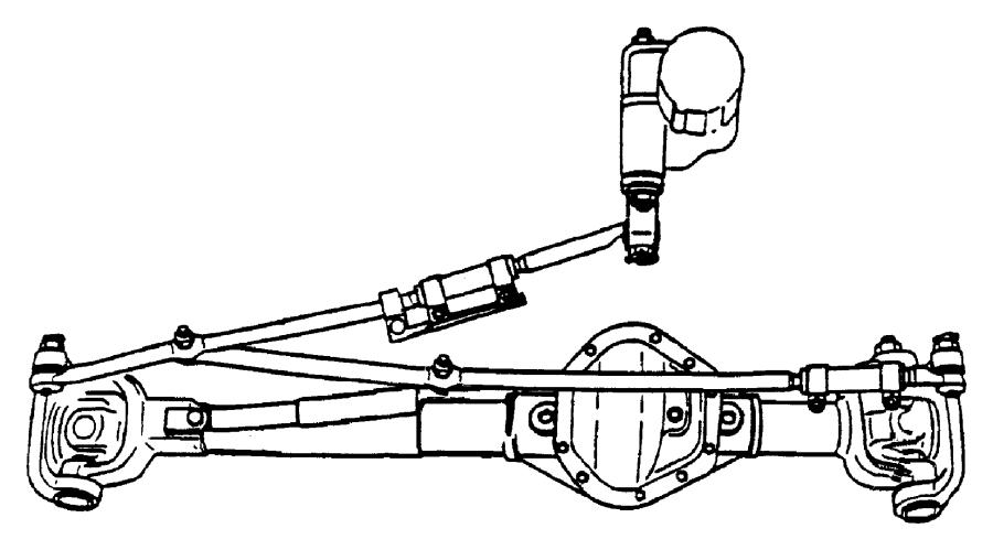 Dodge Ram 3500 Steering Drag Link. SOLID FRONT AXLE, 2000