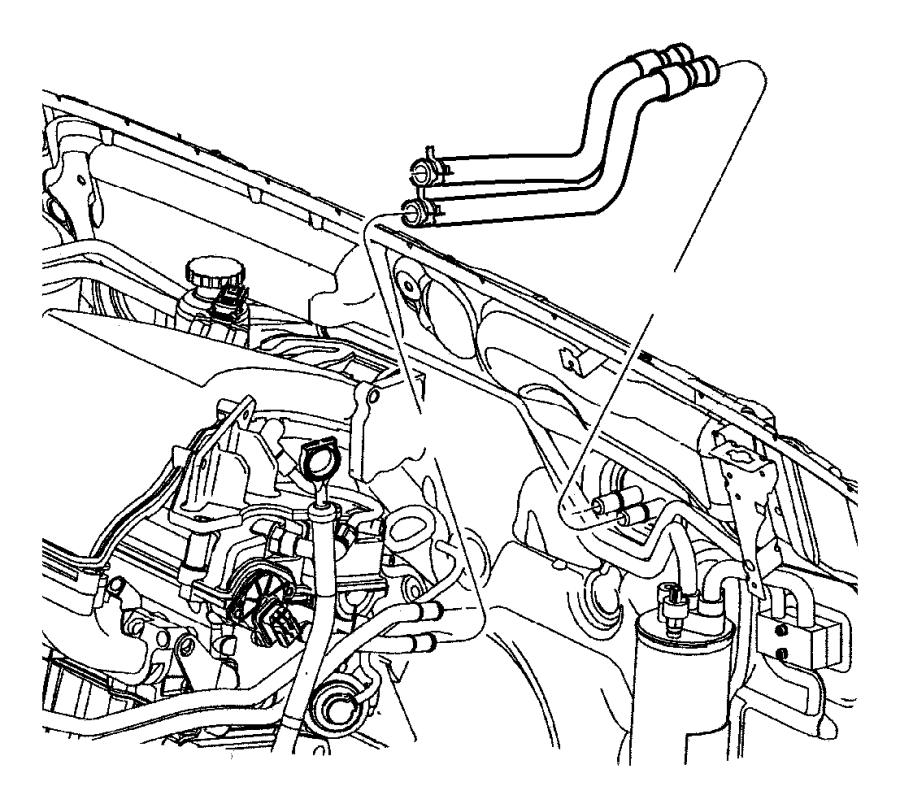Chrysler PT Cruiser Hvac heater hose. Make, repair